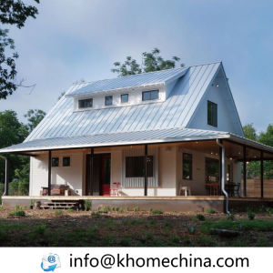 Soundproof Colour Steel Prefabricated Homes with Attic pictures & photos