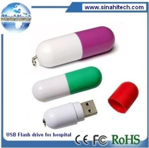 Capsule USB, Flash Memory Disk, Hospital Gift Printing Logo pictures & photos