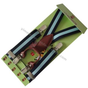 Lovely Kids 4 Clips Elastic Braces Suspender Leather Fittings pictures & photos