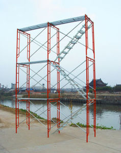 Adjustable Cross Brace for Frame Type Scaffolding
