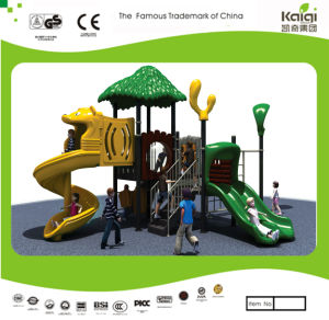 Kaiqi Small Forest Themed Children Playground with Slides (KQ20015A) pictures & photos
