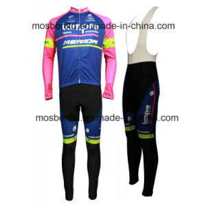 2016 Team Lampre Long Sleeve Cycling Jersey and Bib Pants Set pictures & photos