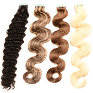 Ombre Remy Micro Tape Hair Extension, Raw Unprocessed Virgin Brazilian Human Hair for Tape in Extensions pictures & photos