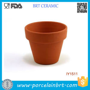 Original Earth Yellow Plant Pot Ceramic Flower Pot pictures & photos