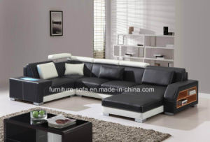 Fashion Office Furniture Black Chaise 3seater Sofa with Lockers