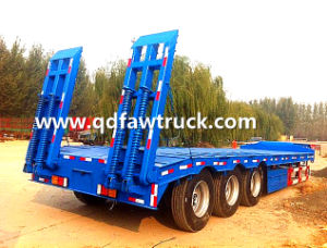 2 Axle 50tons Low Bed Semi Trailer/Drop Deck Trailer pictures & photos