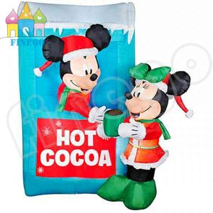 Airblown LED Lighted Mickey and Snowman Scene pictures & photos