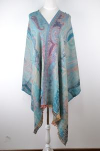 Silk & Wool Jacquard Scarf (12-BR010207-3.1) pictures & photos