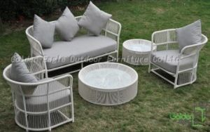 Aluminum Frame Rope Weaved Outdoor Sofa Set (CP0196)
