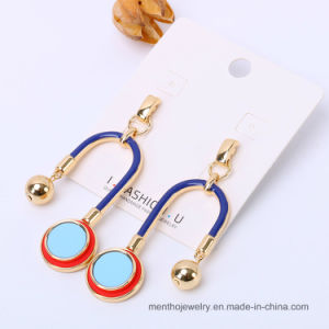 New Design Geometric U Eco-Friendly Alloy Expoxy Fashion Earring Imitation Jewelry pictures & photos