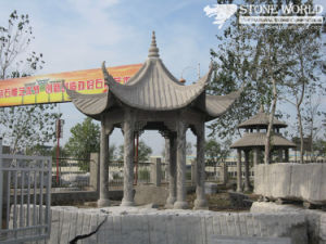 Granite Carving Gazebo for Garden Decoration (CV027) pictures & photos