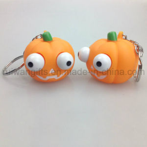 Promotional Squeeze Pumpkin Keychain Toys for Halloween (EYT067) pictures & photos
