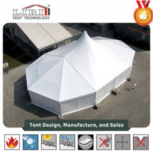 20m Mixed Structure Tent with Big High Peak Roof Tents for Party Wedding pictures & photos