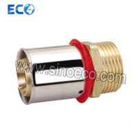 Brass Male Straight Fitting for Pex-Al-Pex Pipe pictures & photos