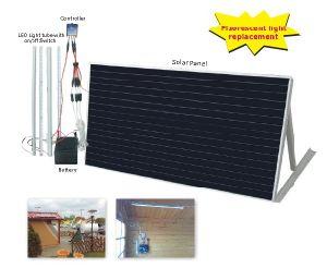 45W Solar House Lighting System