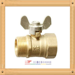 Brass Ball Valve with Zinc Alloy Butterfly Handle