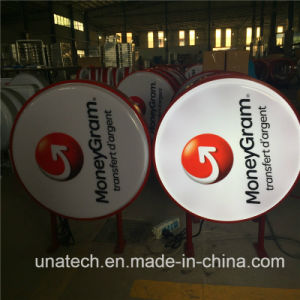 Street Column Outdoor Acrylic Advertising Blister Vacuum LED Side Light Box pictures & photos