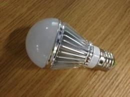 LED Bulb Lamp E27 Silver 3000k\6500k Aluminum +PC Cover