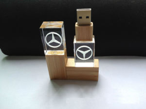 Creative Crytal USB Stick with 3D Printing pictures & photos