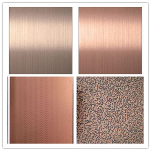 Color/Etched/Embossed/Lined Stainless Steel Sheet/Plate (201/304/316/410/409/430) pictures & photos