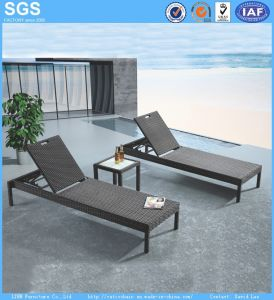 Cheap Outdoor Furniture PE Rattan Sun Lounger pictures & photos