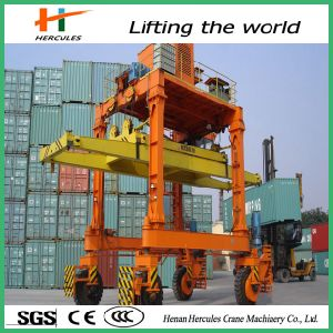 Electric Mobile Harbour Rubber Tyre Gantry Crane for Sale pictures & photos