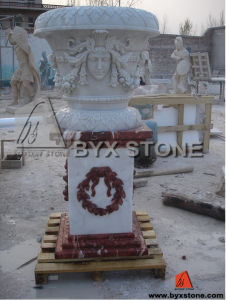 Carved Stone Flower Pot / Stone Planter pictures & photos