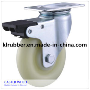 3 Inch Small Nylon Casters with Single Brake pictures & photos
