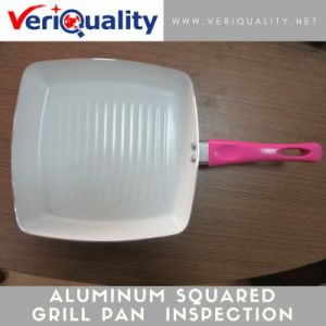 Aluminum Squared Grill Pan with Ceramic Coating Quality Control Inspection Service at Yongkang, Zhejiang pictures & photos