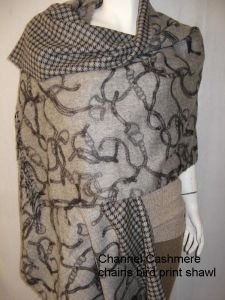 Cashmere Double Faced Print Shawl pictures & photos