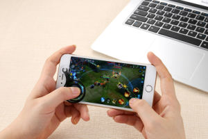 Mini Joystick Silicon Sucker Game Controller for iPhone/Android pictures & photos