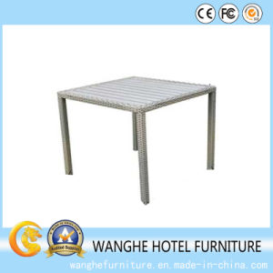 Outdoor Square Furniture Restaurant Wicker Stackable Tea Table pictures & photos