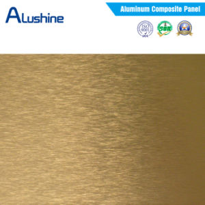3mm 4mm Golden Brush ACP Sheet (1220*2440mm) pictures & photos