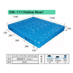 Hollow Blow Plastic Pallet Dw-1111 pictures & photos