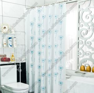 Spring Flower Polyester Shower Curtain PVC\PEVA\EVA pictures & photos