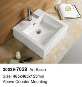 Lavatory Furniture Semi Sanitary Ware Ceramic Bathroom Basin (30029) pictures & photos
