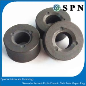 High Performance Ferrite Sintered Multipole Ring Magnet for Dish-Washing Machine pictures & photos