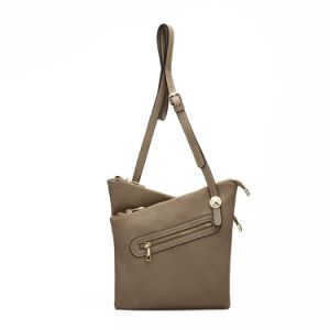 Special Design Double-Layer Crossbody Leather Handbag (MBNO037087) pictures & photos