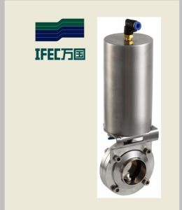 Stainless Steel Pneumatic Butterfly Valve (IFEC-DF10002) pictures & photos