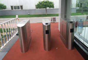 Biometric Control Railway Station Flap Barrier Turnstile pictures & photos