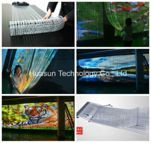 Hot Sales Creative Transparent LED Video Curtain for Glass Wall pictures & photos