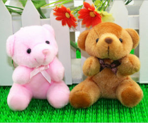 Mini Size Teddy Bear Plush Stuffed Soft Toy Keychains pictures & photos