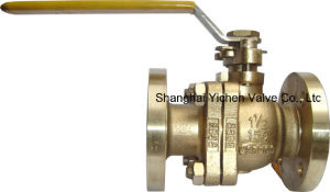 B148 C95800 Bronze Handle Operation Flanged Ball Valve pictures & photos