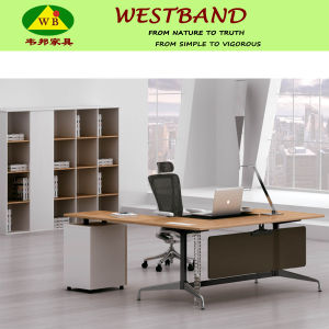 Modern Simple Steel Wooden Office Desk (WB-Mike)