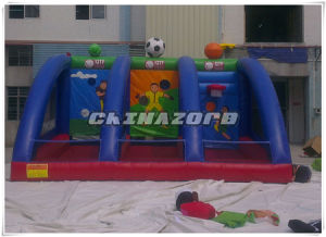New Coming Custom Made Inflatable Penalty Combination of Basketball Hoop