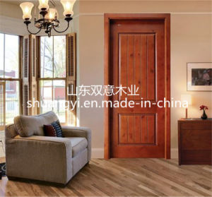 Solid Wood MDF Panel Entry Door pictures & photos
