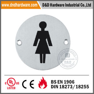 Round Type Ss Sign Plate for Ladies Washroom pictures & photos