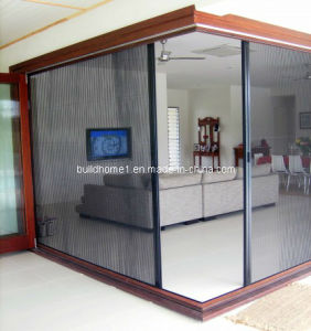 China folding door retractable insect screen china for Accordion retractable screen doors