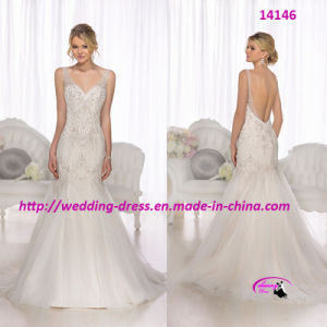 Elegant Fit-and-Flare Mermaid Wedding Bridal Dress pictures & photos