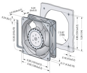 140mmx140mmx51mm Aluminum Housing, Plastic Impeller DC14051 Axial Fan pictures & photos